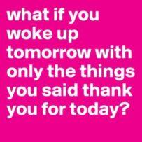 An exercise in gratitude